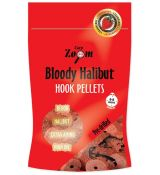 CARP ZOOM Pelety Bloody Halibut J 20mm - vŕtané (150g)