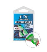 Čeburaška L&K Fish Head 6-23g (2-3ks)